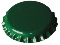 Crown Caps Green 100 pcs